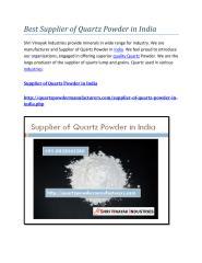 Best Supplier of Quartz Powder in India.pdf