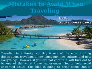 Mistakes to Avoid When Traveling To a Foreign Country.pptx