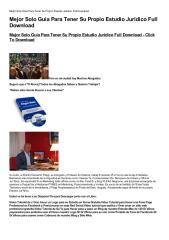 Mejor Solo Guia Para Tener Su Propio Estudio Juridico Full Download-html.pdf