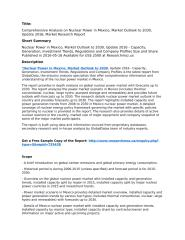 Nuclear Power in Mexico, Market Outlook to 2030, Update 2016 - Capacity, Generation, Investment Trends, Regulations and Company Profiles.pdf