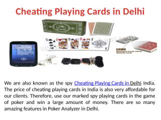 Cheating Playing Cards in Delhi India.pptx