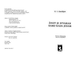 G.I.GURDJIJEV - ŽIVOT JE STVARAN SAMO KADA JA JESAM.pdf