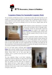 Carpenters Putney For Sustainable Carpentry Work.pdf