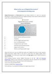 What is the use of Digital Electronics.docx