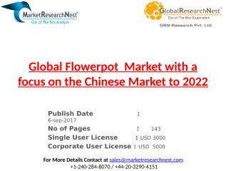 Global Flowerpot  Market with a focus on the Chinese Market to 2022.pptx