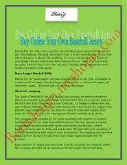 Buy Online Your Own Baseball Jersey.pdf