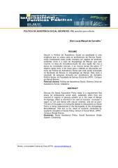 POLÍTICA DE ASSISTÊNCIA SOCIAL EM BREVES PA QUESTÕES PARA REFLEXÃO.pdf