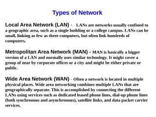 Typs of network & Internet.pps