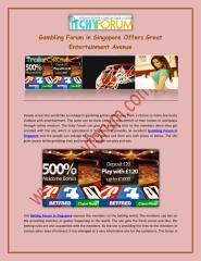 Gambling Forum in Singapore Offers Great Entertainment Avenue.pdf