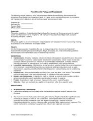Fixed Assets Policy and Procedures.doc